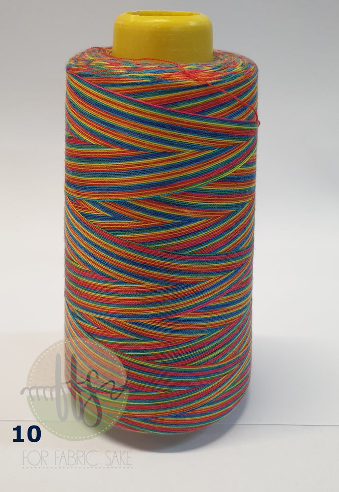 Load image into Gallery viewer, Rainbow Overlocking Thread - NO 10- 3000 yards /2740 meters