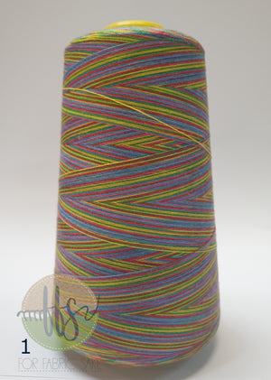 Rainbow Overlocking Thread - NO 1- 3000 yards /2740 meters