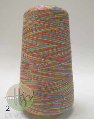 Rainbow Overlocking Thread - NO 2- 3000 yards /2740 meters