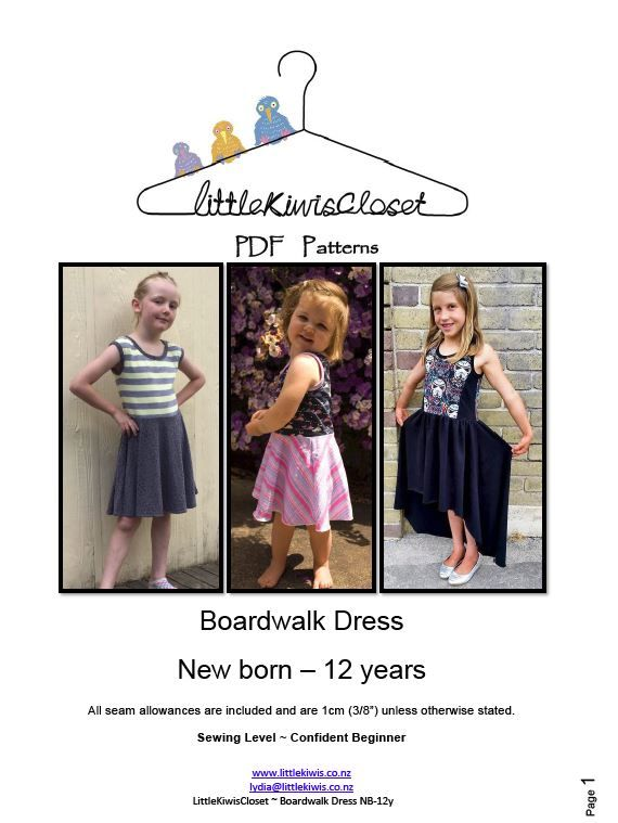 Boardwalk Dress -NB -12Yrs - Little Kiwis Closet