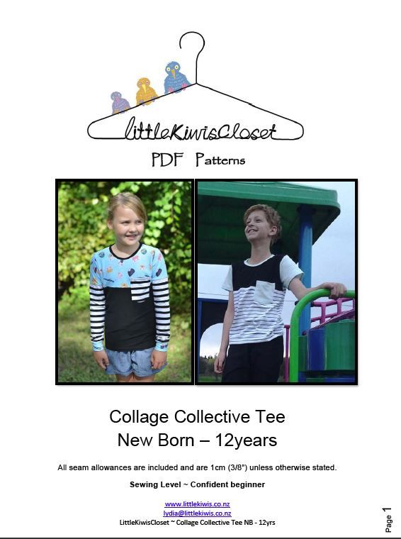 Collage Collective Tee-NB -12Yrs - Little Kiwis Closet