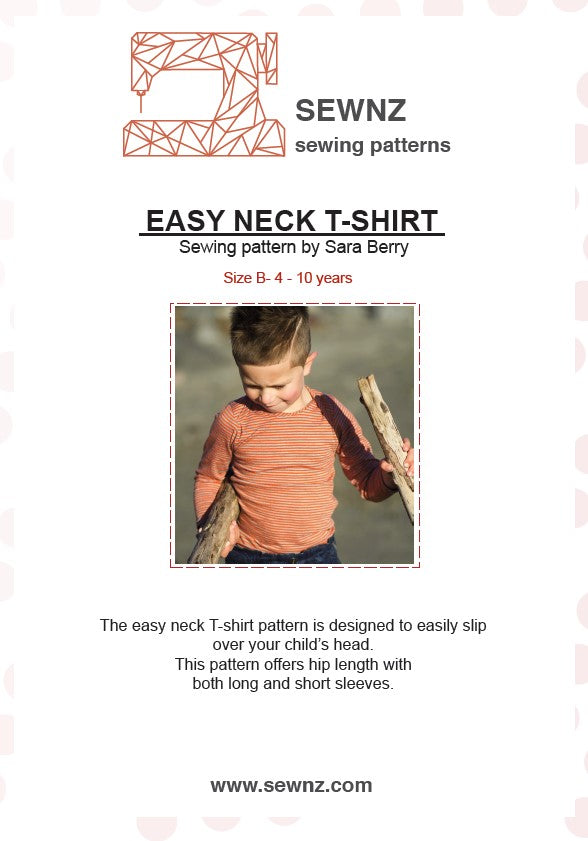 Easy Neck T-shirt  : 4-10 years