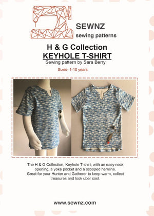 H & G Keyhole T-shirt: 1-10 years