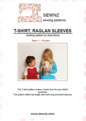 T-shirt raglyn sleeve : 1-10 years