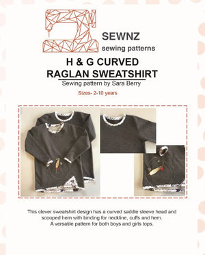 Curved Raglyn Sweatshirt : 2-10 years