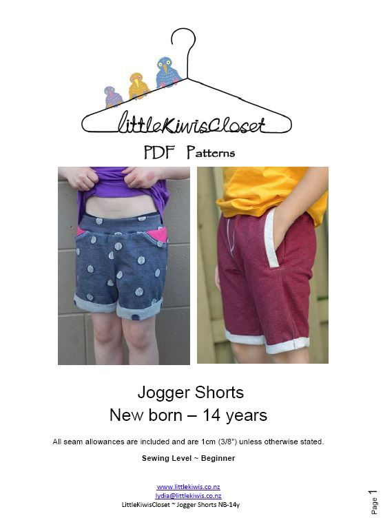 Jogger Shorts-NB -14Yrs - Little Kiwis Closet