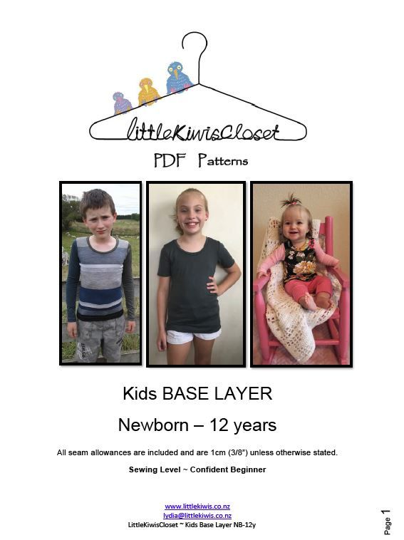 Kids Base Layer-NB -12Yrs - Little Kiwis Closet