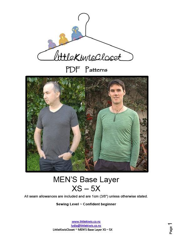 Load image into Gallery viewer, Men's Base layer- XXS -5X - Little Kiwis Closet