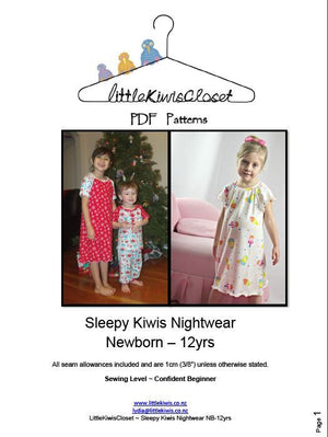 Sleepy Kiwis Nightwear- NB -12Yrs - Little Kiwis Closet