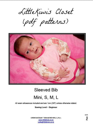 Sleeved Bib- S/M/L - Little Kiwis Closet