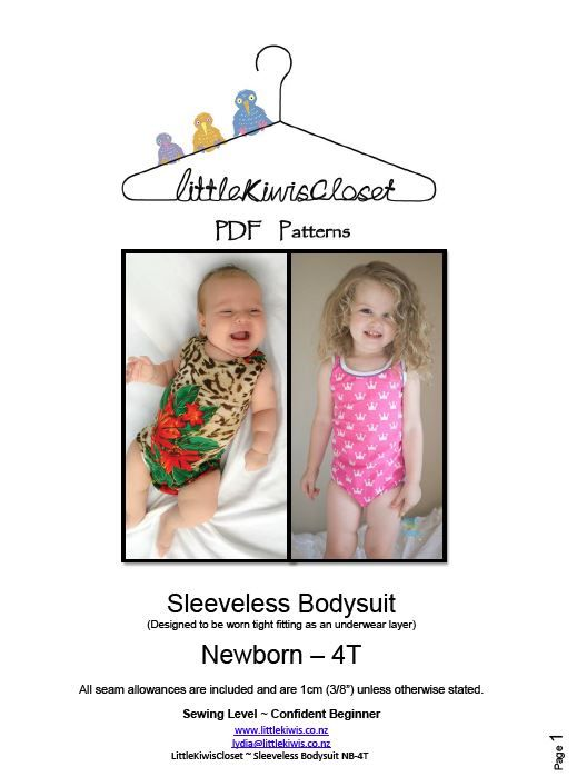 Sleevelss Body Suit- NB-4T - Little Kiwis Closet