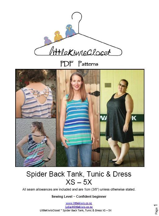 Women's Spider back tack, tunic and dress- XS - 5X - Little Kiwis Closet