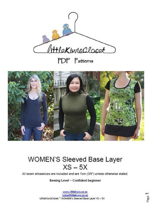Load image into Gallery viewer, Women's Sleeved Base layer- XS - 5X - Little Kiwis Closet