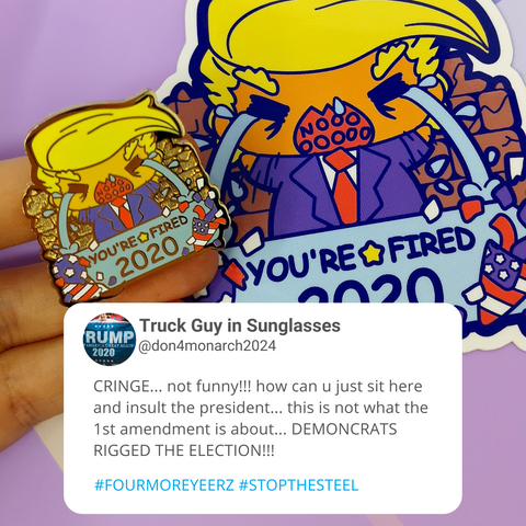 PREORDER ROUND 3 - You're Fired 2020 - Trump Enamel Pin - Ships Mar 2021