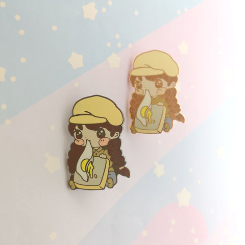 Eggy Toast Castle - Hard Enamel Pin -- GSnacks Collection - Kittynaut