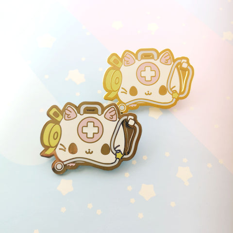 First Aid Kit-ty -- Hard Enamel Collar Pin -- Kawaii Medical Pins Series