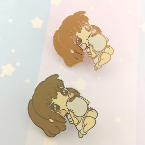 Bathhouse Bao - Hard Enamel Pin -- Gsnacks Collection - Kittynaut