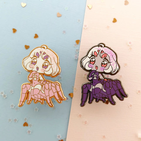 Monster Girls -- Spider Hard Enamel Pin - Kittynaut