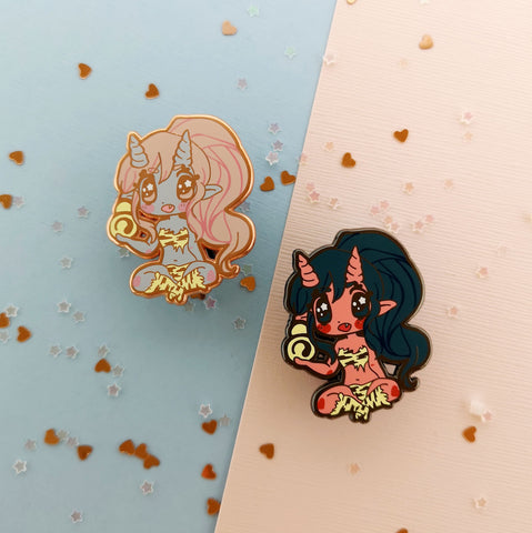 Monster Girls -- Oni Hard Enamel Pin - Kittynaut