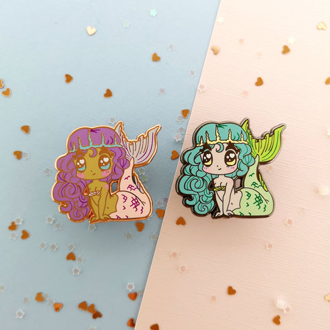 Monster Girls -- Mermaid Hard Enamel Pin - Kittynaut