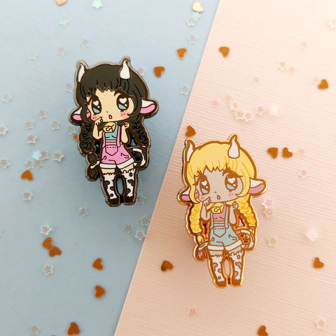 Monster Girls -- Minotaur Hard Enamel Pin - Kittynaut