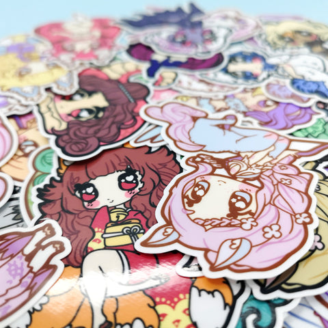 Monster Girls -- Die Cut Stickers - Kittynaut