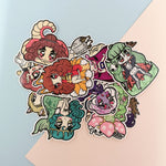 Monster Girls -- Die Cut Stickers