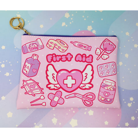 Kawaii First Aid -- Faux Leather Clutch Bag
