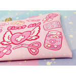 Kawaii First Aid -- Faux Leather Clutch Bag - Kittynaut