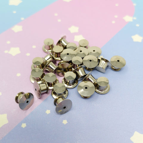 Locking Pin Backs -- Pinbacks - Kittynaut