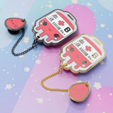 B+ Positive Blood Bag-- Hard Enamel Collar Pin -- Kawaii Medical Pins Series - Kittynaut