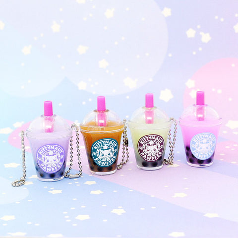Kittynaut Pawfee Bubble Tea Keychains - Kittynaut