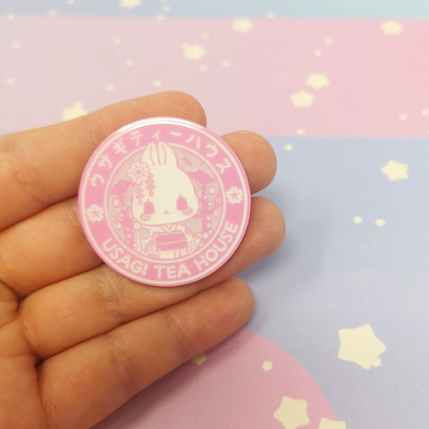 Usagi Tea House Enamel Pins