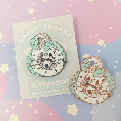 Gifted Rice Ball - Hard Enamel Pin -- GSnacks Collection - Kittynaut