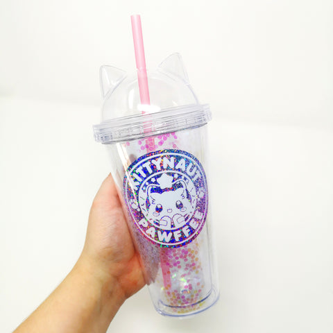 Glitter Pawfee Tumbler -- BLACK FRIDAY EXCLUSIVE