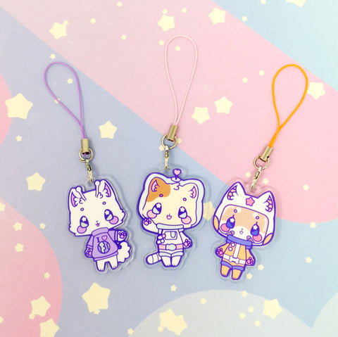Leo + Friends - 2-sided acrylic charms