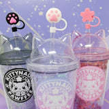 Paw Straw Toppers for Tumbler