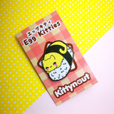 Deviled Egg Cat - Egg Kitties  - Hard Enamel Pins Series - Kittynaut