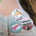 Sushi Series -- Buttons - Kittynaut