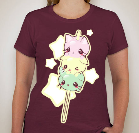 Dango Kitties -- Tee Shirt - Kittynaut