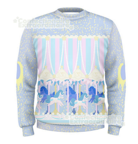 Pastel Carousel -- Sweater / Skater Dress - Kittynaut