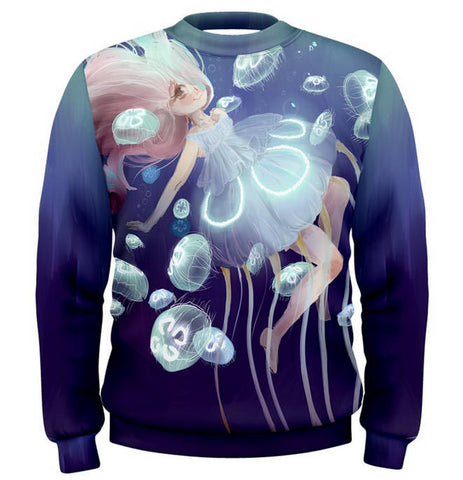Jellyfish Princess -- Sweater - Kittynaut