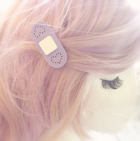 Pastel Bandaid Hair Clips