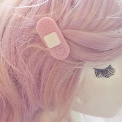 Pastel Bandaid Hair Clips - Kittynaut