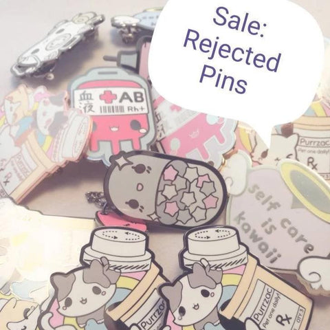 Rejected enamel Pins: Kawaii Medical Pins - Kittynaut