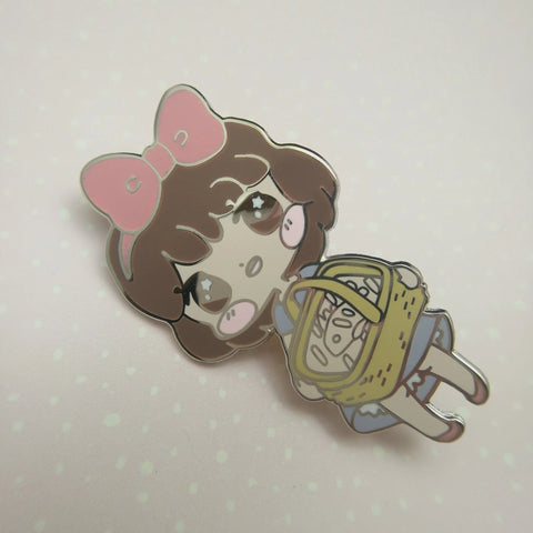 Kiki  - Hard Enamel Pin -- Ghibli Snacks Collection - Kittynaut