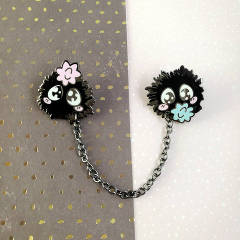 Soot Sprites  - Hard Enamel Pin -- Ghibli Snacks Collection - Kittynaut
