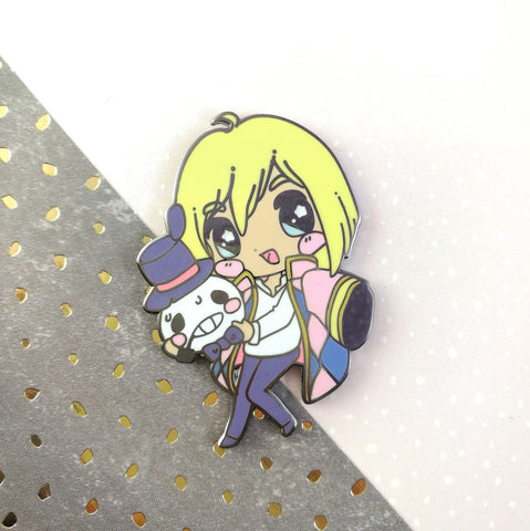 Howl - Hard Enamel Pin -- Ghibli Snacks Collection - Kittynaut