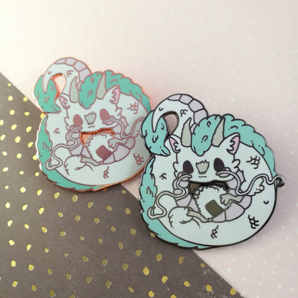 Haku - Hard Enamel Pin -- Ghibli Snacks Collection - Kittynaut