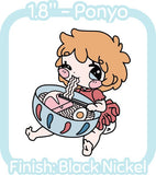 Ponyo - Hard Enamel Pin -- Ghibli Snacks Collection - Kittynaut